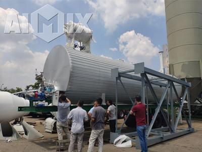Aimix Asphalt tank Was shipped In Kuala Lumpur City Malaysia