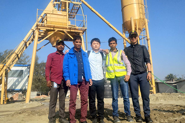 AJ-35 Concrete Batching Plant Installation in Bangladesh
