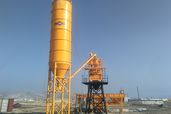 AJ-50 Concrete Batching Plant Installation in Uzbekistan