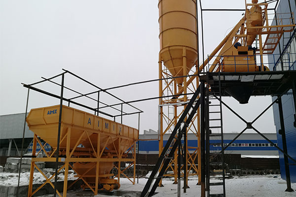 AJ-75 Concrete Batching Plant Installation in Kazakhstan