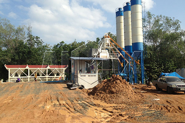 AJ-50 Concrete Bathing Plant Installation in Thailand