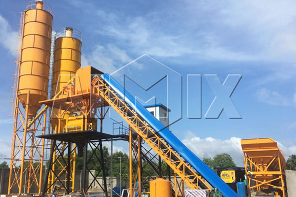 AJ60 Concrete Batching Plant Installation in Sri Lanka
