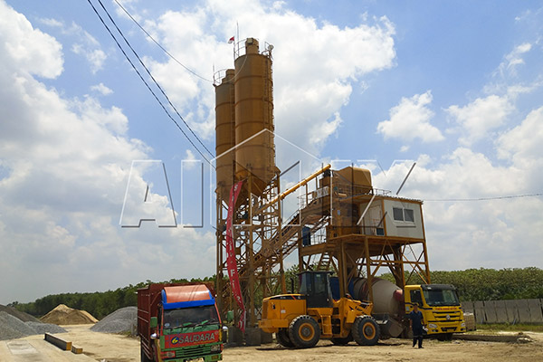 AJ-90 Concrete Batching Plant Installation in Indonesia