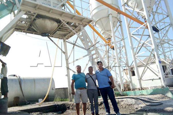 AYJ-240 Concrete Batching Plant Installation in Malaysia