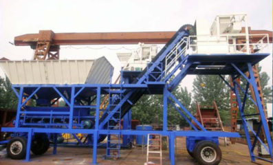 AYJ-25 Mobile Concrete Batching Plant