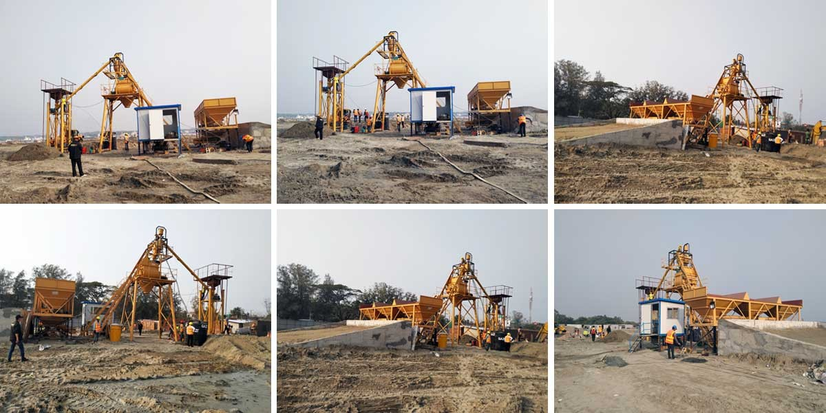 Aimix Concrete Batching Plant in Bangladesh