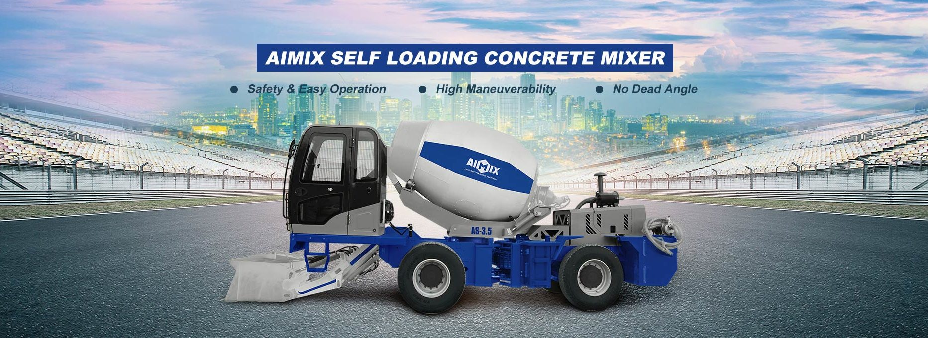 Aimix Self Loading Concrete Mixer For Sale