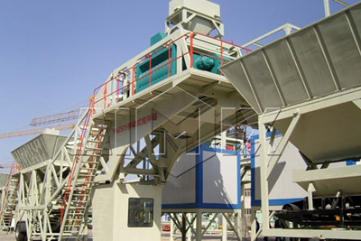 AJY75 mobile concrete batching plant