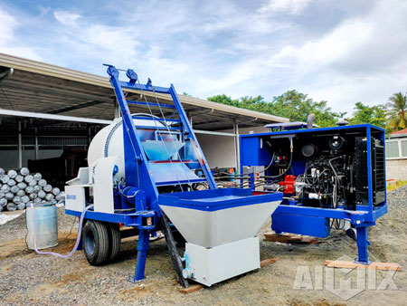 Aimix Concrete Mixer Pump Working in Philippines