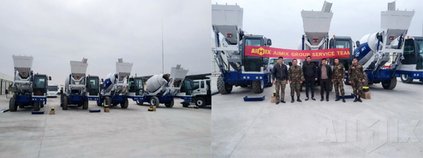Aimix AS-3.5 Self Loading Concrete Mixer In Uzbekistan