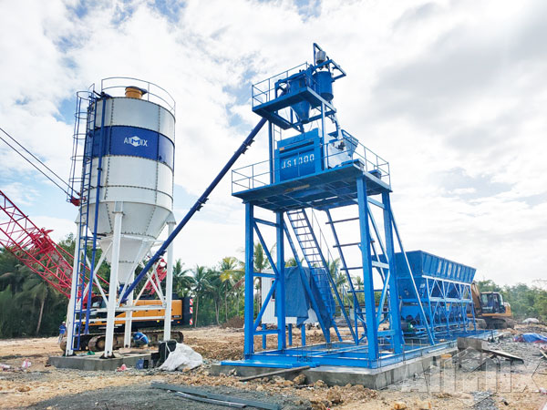 Aimix Foundation-free Concrete Batching Plant