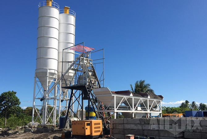AJ50 Concrete Batching Plant Installed In Philippines
