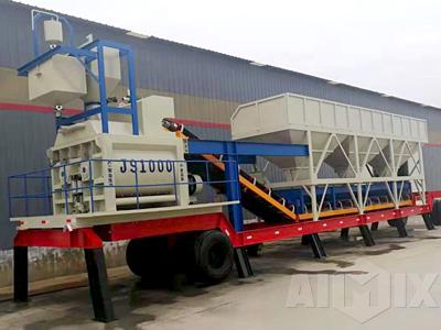 Portable Twin Shaft Concrete Batching Plant