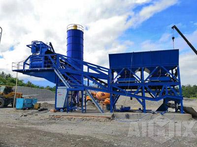 AJY60 mobile concrete batching plant